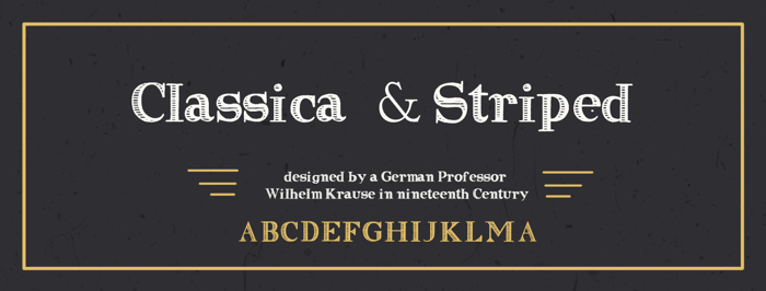 Clasica Striped Font poster