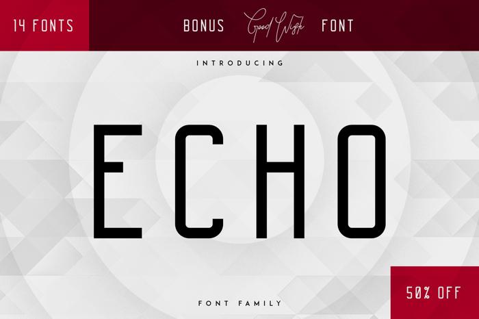 Echo Font poster