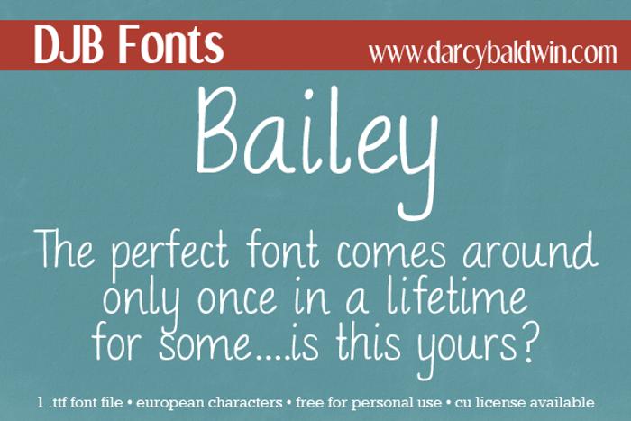 DJB BAILEY Font poster