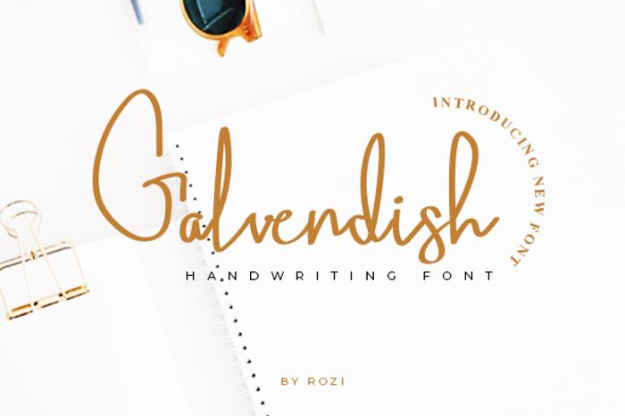 Galvendish Font poster