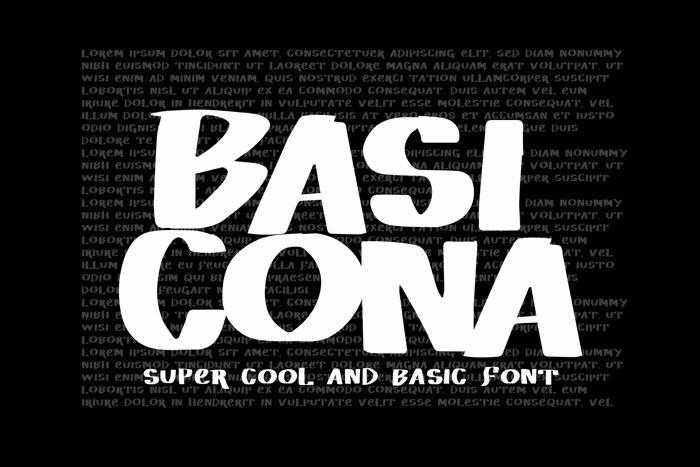 Vtks Basicona Font poster