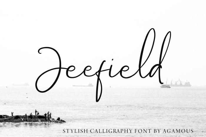 Jeefield Font poster