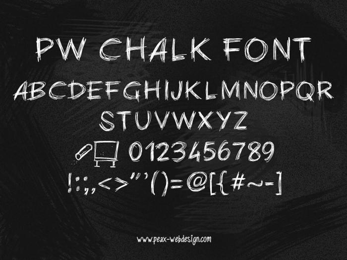 PWChalk Font poster