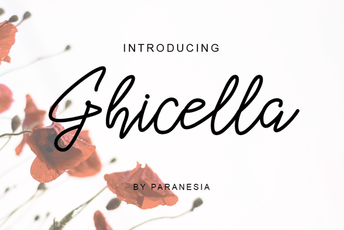 Ghicella Font poster