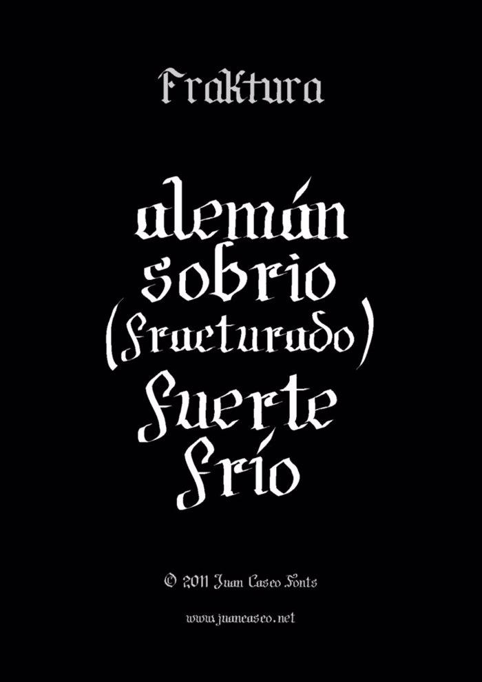 Fraktura Font poster