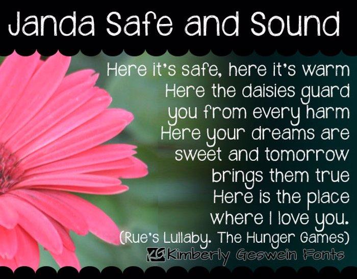 Janda Safe and Sound Font poster