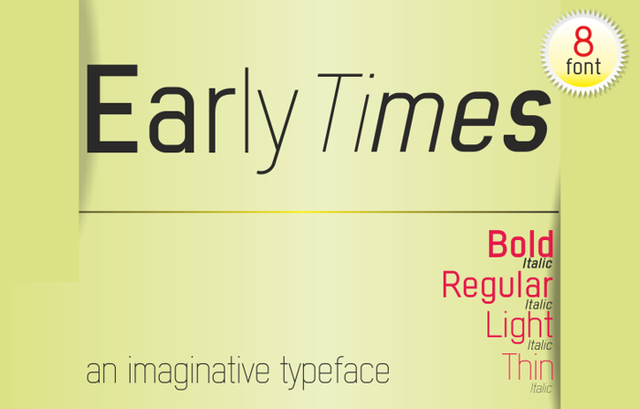 Early Times Demo Font poster