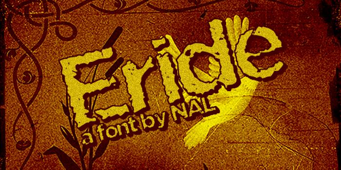 Eride Font poster