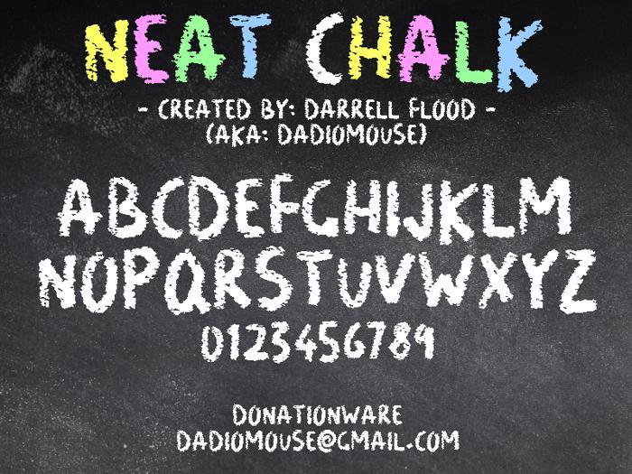 Neat Chalk Font poster