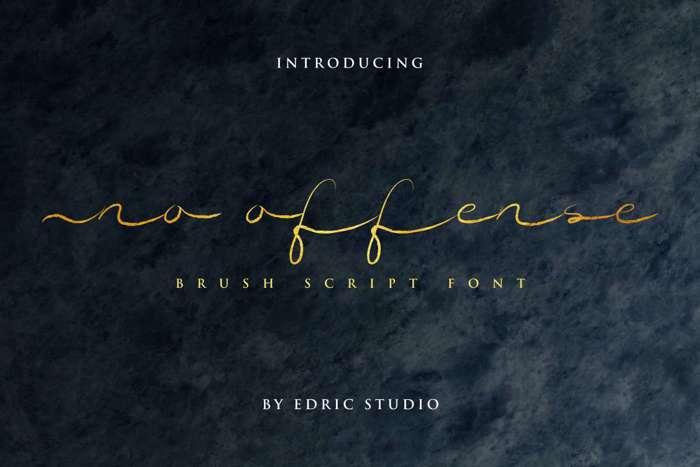 No Offense Font poster