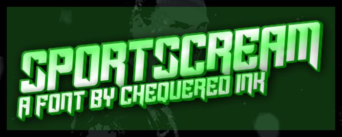 Sportscream Font poster