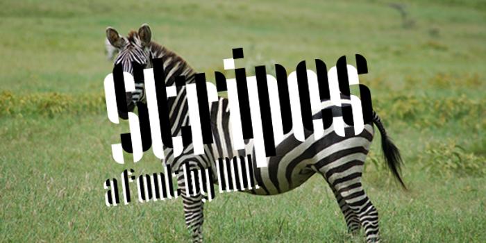 Stripes Font poster