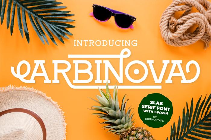 Arbinova Font poster