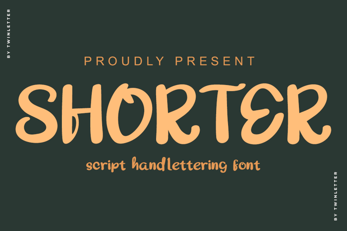 SHORTER Font poster
