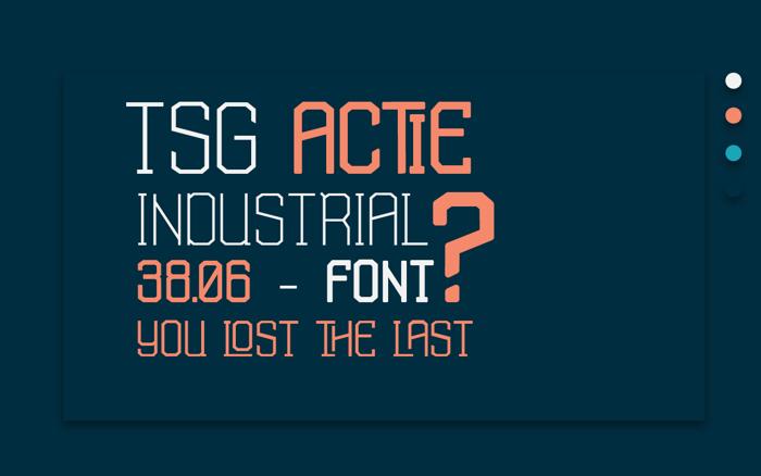 TSG Actie Font poster