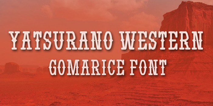 Yatsurano Western Font poster