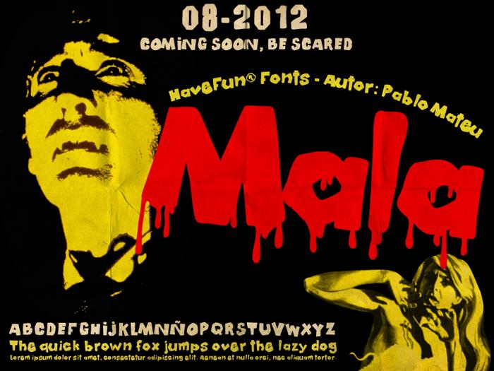 Mala Font poster