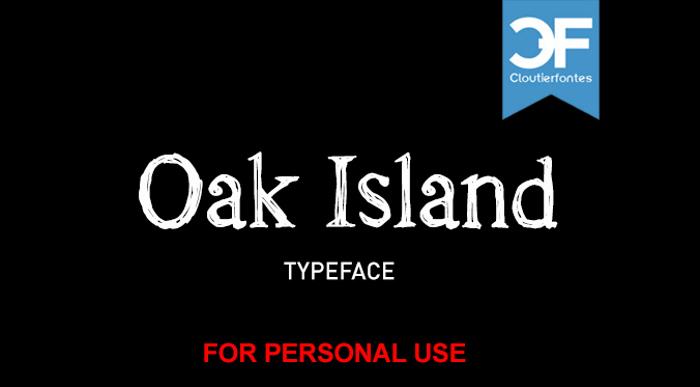 CF Oak Island PERSONEL Font poster
