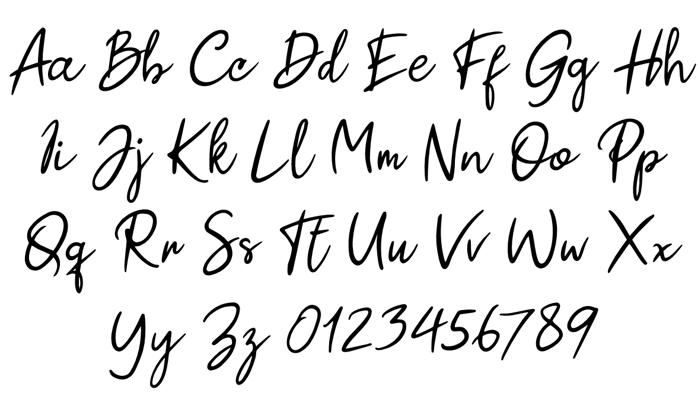 Paul Signature Font poster