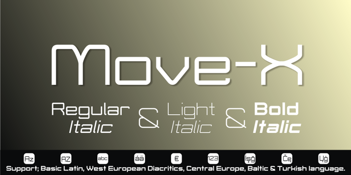 Move-X Font poster