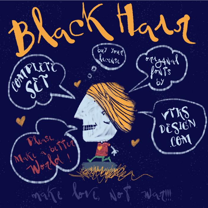 Vtks BlackHair Font poster