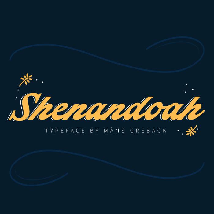 Shenandoah Font poster