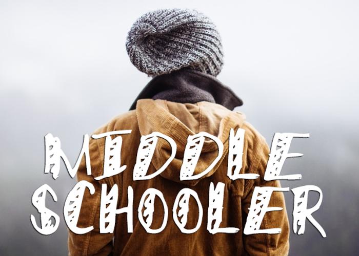 Middle Schooler Font poster