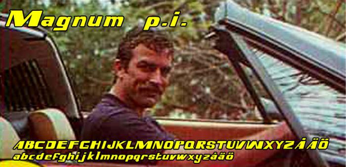 Magnum p.i. Font poster
