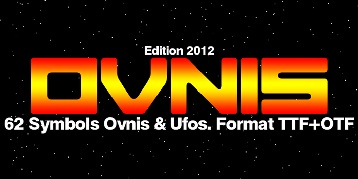 Ovnis Font poster