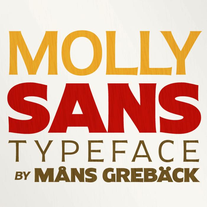 Molly Sans Font poster