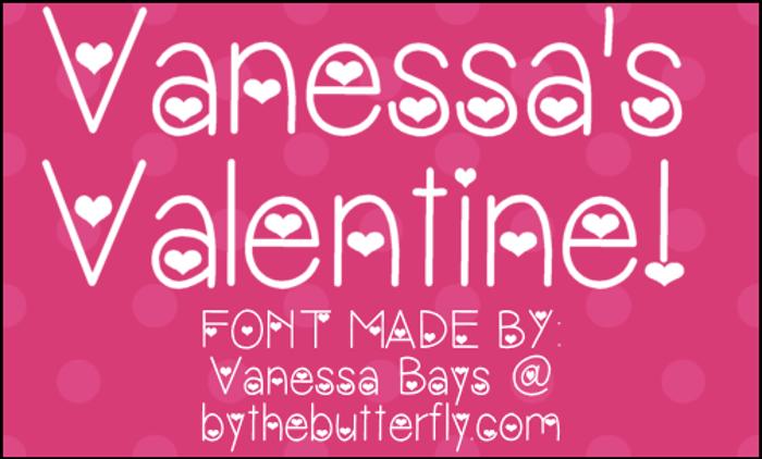 VanessasValentine Font poster