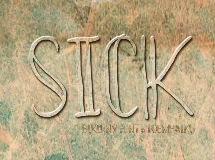 Bikinny Demo Font poster