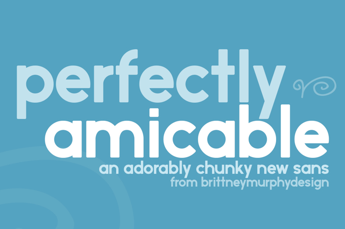 perfectly amicable Font poster