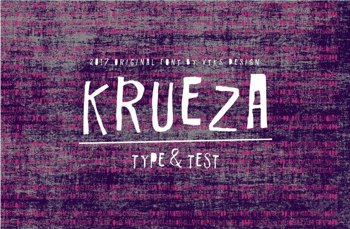 Vtks Krueza Font poster