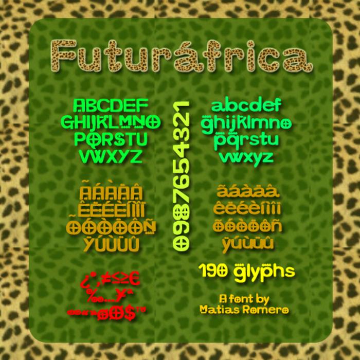 Futurafrica Font poster