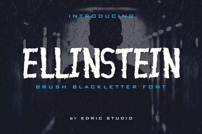 Ellinstein Font poster