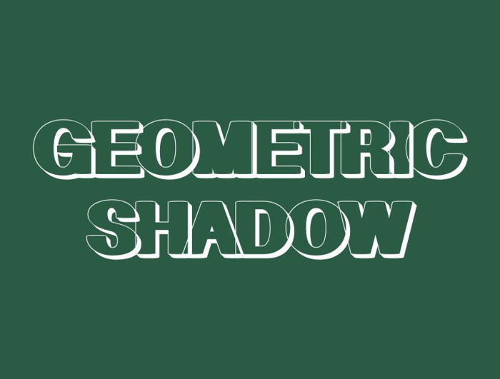 Geometric Shadow Font poster