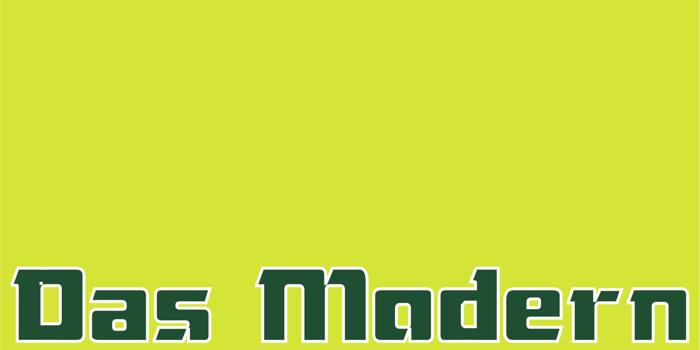 Das Modern Font poster