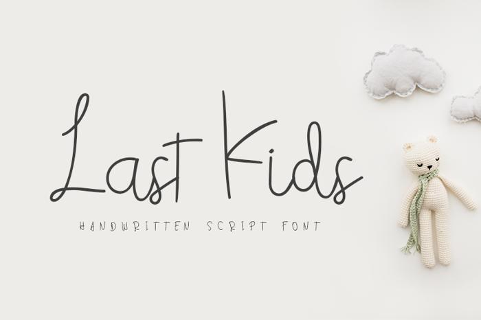 Last Kids Font poster