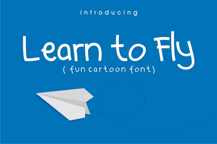 Learn to  Fly Font poster