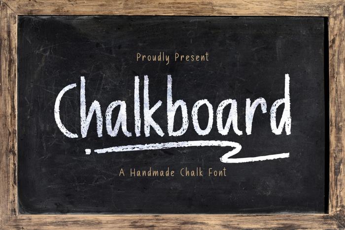 Chalk Board Font poster