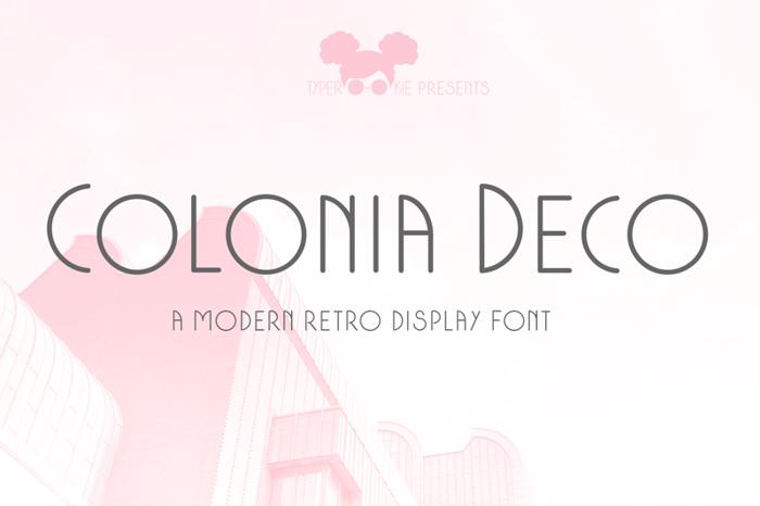 Colonia Deco Font poster