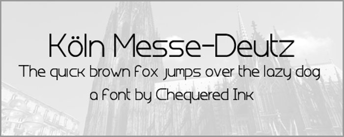 Koln Messe-Deutz Font poster