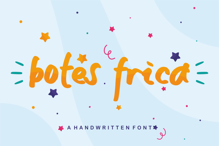 botes frica Font poster