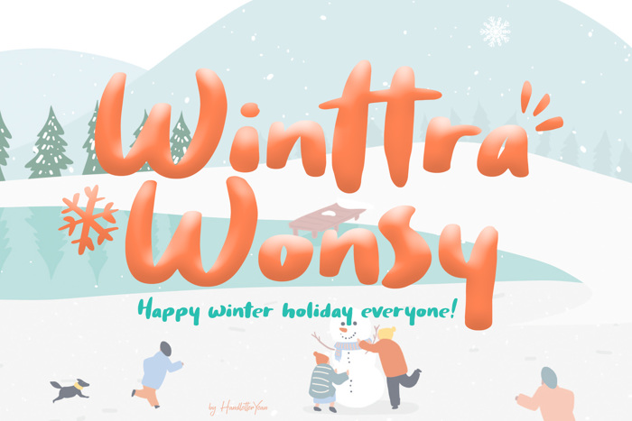 Winttra Wonsy Font poster