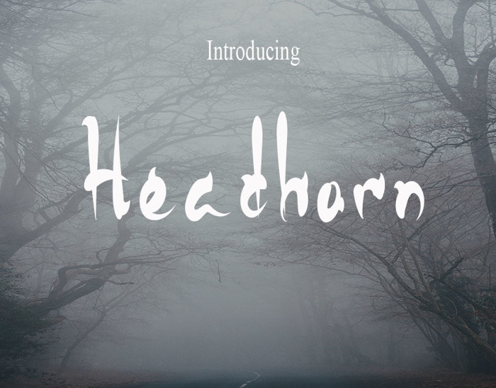 HeadHorn Font poster