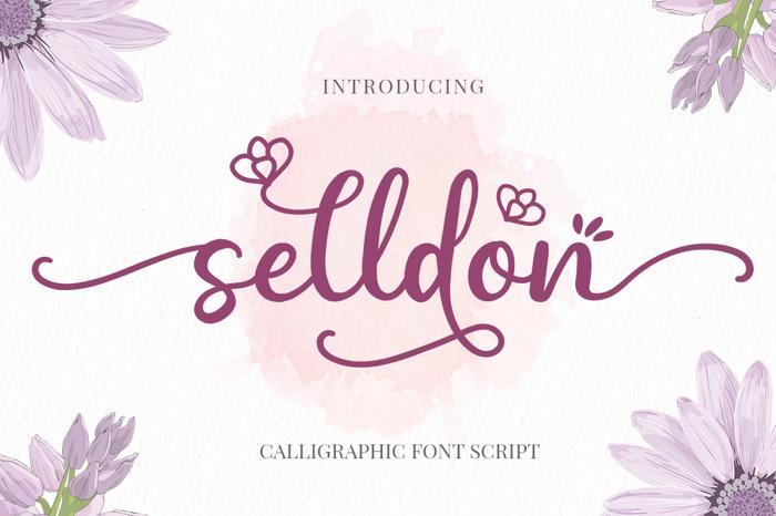 Selldon Font poster
