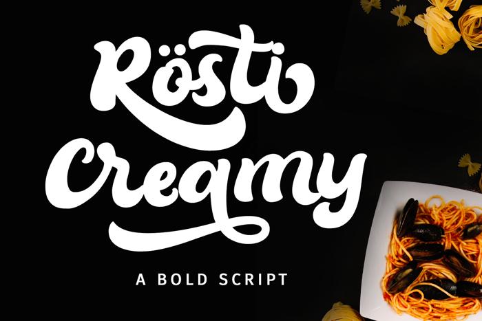 Rösti Creamy Font poster