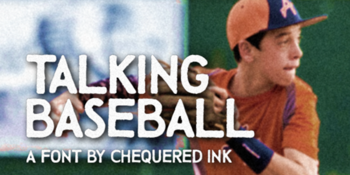 Talking Baseball Font poster