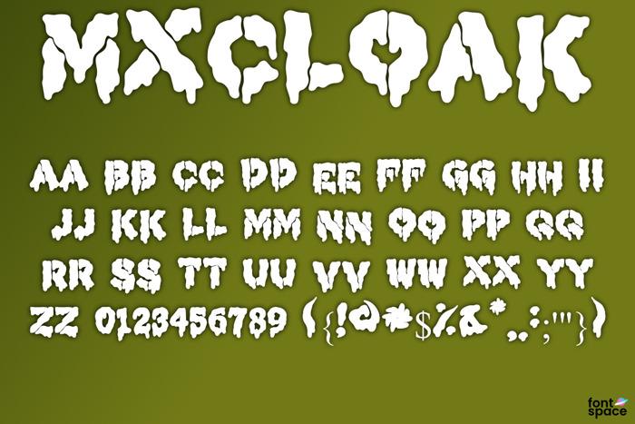 MXCLOAK Font poster